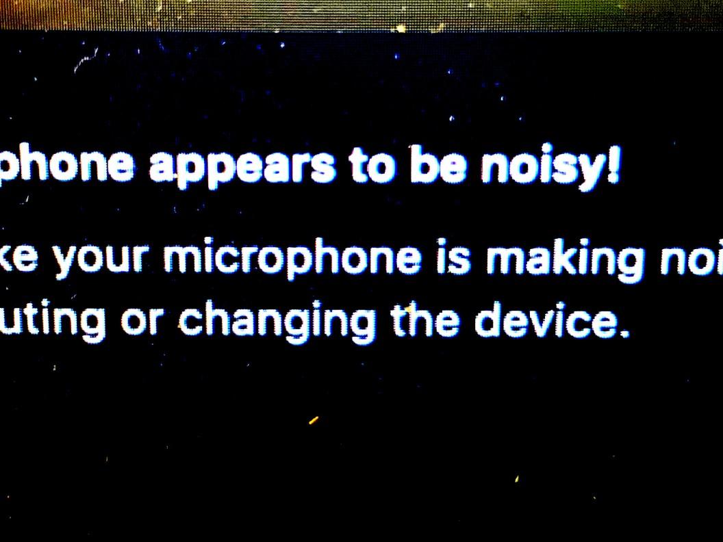 microphone noise alert